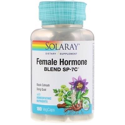 女性ホルモンブレンド SP-7C、ベジタリアンカプセル 180 錠