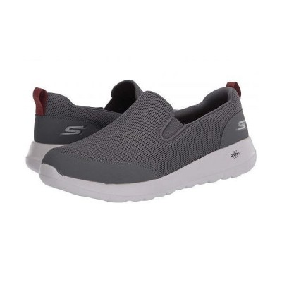 SKECHERS Performance スケッチャーズ メンズ 男性用 シューズ 靴 スニーカー 運動靴 Go Walk Max - Clinched - Grey/Burgundy