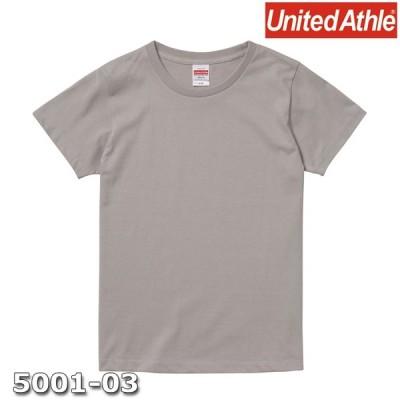 Tシャツ 半袖 ガールズ レディース ハイクオリティー 5.6oz G-M サイズ L グレー 無地 ユナイテッドアスレ CAB