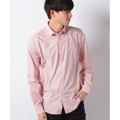 【シスレー】 ミクロジャガードドレスシャツ メンズ ピンク S (国内M相当) SISLEY