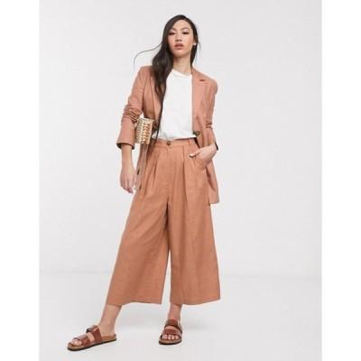エイソス レディース カジュアルパンツ ボトムス ASOS DESIGN splendid linen suit culottes