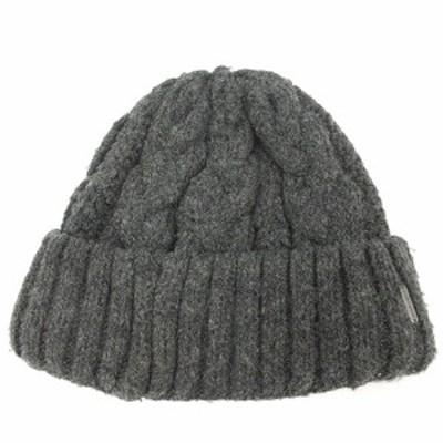 【中古】エムシーバーン MC BURN 帽子 ニット帽 グレー /SR11 レディース