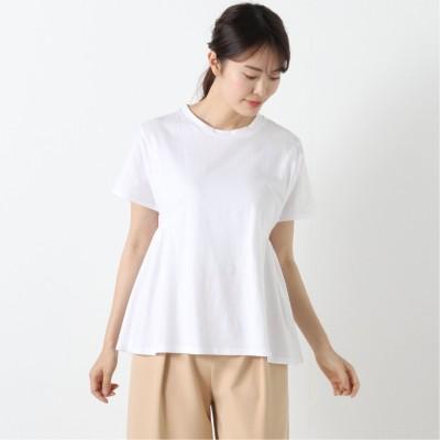 シルケット加工できれいめ見え◎ギャザーTシャツ