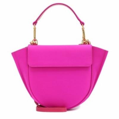 ワンダラー Wandler レディース ショルダーバッグ バッグ Hortensia Mini satin shoulder bag Hot Pink