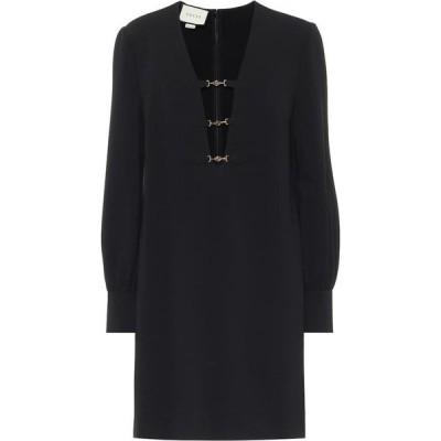 グッチ Gucci レディース ワンピース ワンピース・ドレス Embellished stretch-crepe minidress Black