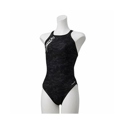 Speedo(スピード) 練習水着 レディース スーツ シャドーカモターンズ 競泳 トレーニング STW01913 ブラック×ホワ