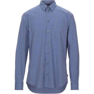 アルマーニ ARMANI COLLEZIONI メンズ シャツ トップス Checked Shirt Dark blue