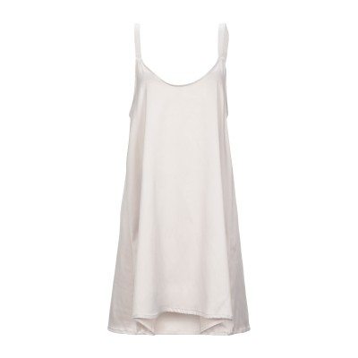 ZEUSEDERA ミニワンピース&ドレス ベージュ S ポリエステル 100% ミニワンピース&ドレス