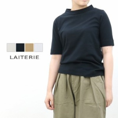 レイトリー LAITERIE USE天竺5分袖ボトルネックTシャツ LC20201 2020春夏 無地 きれいめ 日本製 レディース