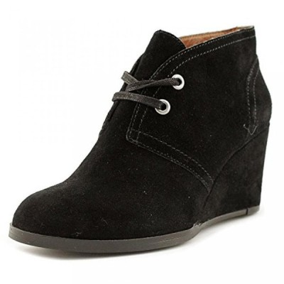 ラッキーブランド レディース ブーツ Lucky Brand Seleste Women Round Toe Suede Black Ankle Boot