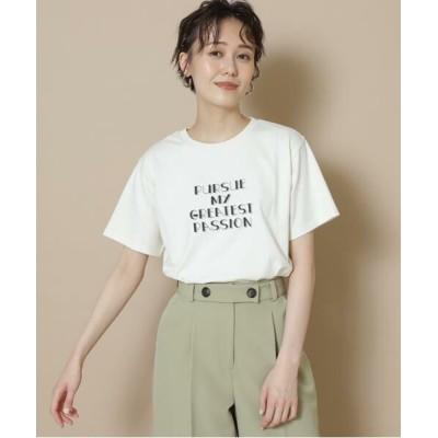 N.Natural Beauty Basic/エヌ ナチュラルビューティーベーシック メッセージTシャツ オフシロ M