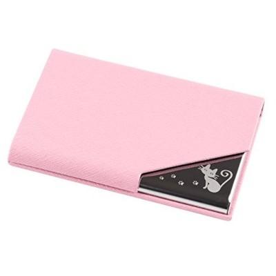 kooyi 名刺入れ カードケース ビジネス レディース カラフル 9色 角が折れない (ピンク)