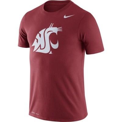 ナイキ Nike メンズ Tシャツ トップス Washington State Cougars Crimson Logo Dry Legend T-Shirt
