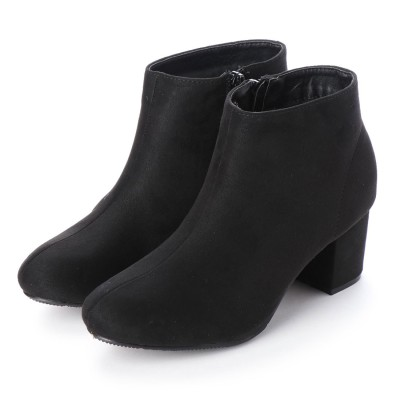 マフモフ Mafmof Realta(レアルタ) シンプルなショートブーツ (ブラック・スエード)