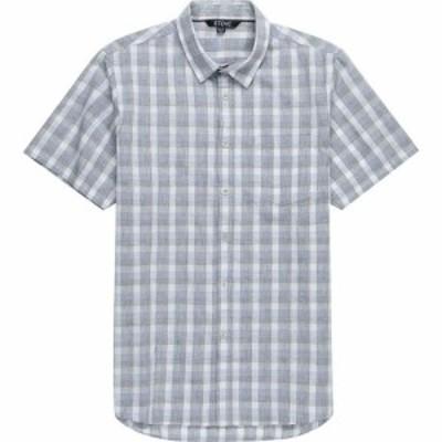 ストイック Stoic メンズ 半袖シャツ トップス Plaid Short - Sleeve Button - Down Shirt Heather Gray