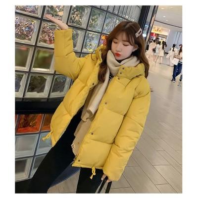 [55555SHOP]◆送料無料◆●冬日 ファッション  可愛い  コットンジャケット 軽い 暖かい 秋冬 アウター  れダウンコート  柔らか  レディース 冬物 冬服 秋冬物 フード付き ダウ