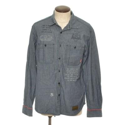 NEIGHBORHOOD ネイバーフッド 長袖 ダンガリー シャツ サイズL コットン 日本製 メンズ ブルー