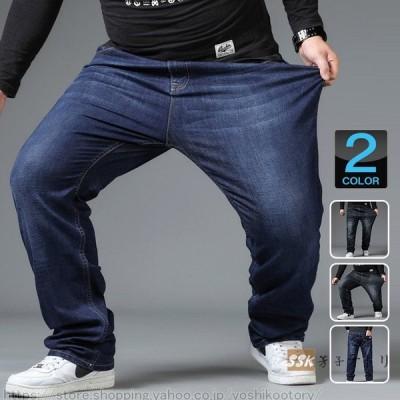 デニムパンツ ストレッチ デニム ジーンズ メンズ ジーパン 大きいサイズ イージーパンツ ゆったり ボトムス