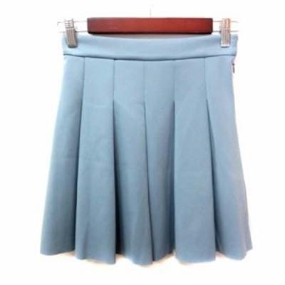 【中古】ウィルセレクション WILLSELECTION フレアスカート ミニ プリーツ 0 青 ブルー /YI レディース