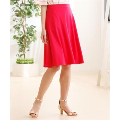 【大きいサイズ】 人気のためネット限定色追加!!カットソー無地フレアスカート(ひざ中丈) スカート, plus size skirts
