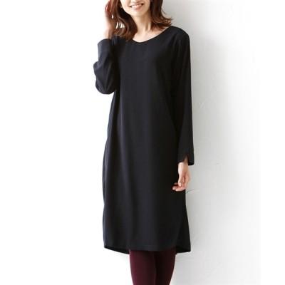 小さいサイズ 後ろタックデザインサックワンピース 【小さいサイズ・小柄・プチ】ワンピース, Dress