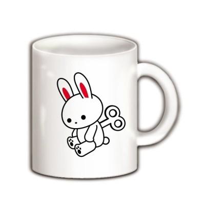 元気ゼンマイうさぎ マグカップ(ホワイト)