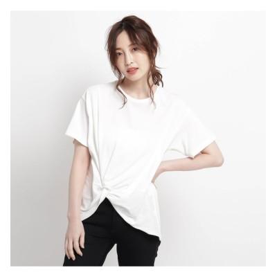 【ジェット/JET】 【ウォッシャブル】天竺ツイストデザインTシャツ