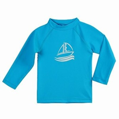 ESTAMICO キッズ 長袖 ラッシュガード Tシャツ UVカットUPF+50 子供用 水着 水陸両用 (スカイブルー, 110cm/4T)