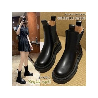 2020秋冬  靴 サイドゴアブーツ boots ローヒール 通勤通学 ブーツ