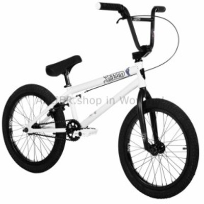 """BMX 2019 SUBROSA TIRO 18 """"コンプリートBMXバイク自転車シャドーホワイトホワイトブラック  2019 S"""