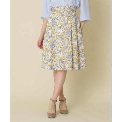 Couture brooch / 【WEB限定サイズ(SS・LL)あり】フラワープリントスカート WOMEN スカート > スカート