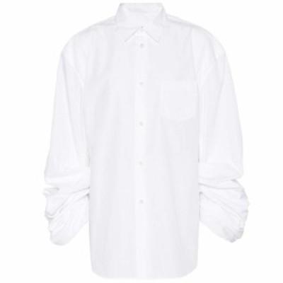 ジュンヤ ワタナベ Junya Watanabe レディース ブラウス・シャツ トップス Cotton-blend shirt white