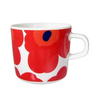 マリメッコ marimekko ウニッコ UNIKKO マグカップ ホワイト レッド 200ml 63429 001 【並行輸入】 6342