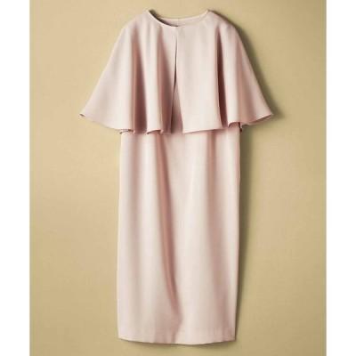 ドレス IEDIT ケープワンピースセットアップ〈アイボリーベージュ〉