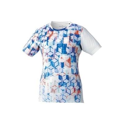 ゴーセン(GOSEN) ソフトテニス バドミントン レディース ゲームシャツ T1813 ホワイト(30) Sサイズ