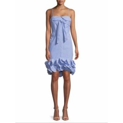 ファースト サイト レディース ワンピース Tie Ruffle Dress