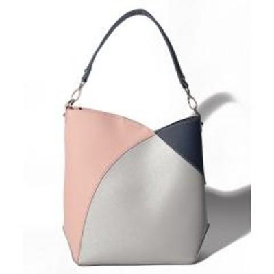 BASE(ベース)カラーブロックインバッグ付き2wayトートバッグ