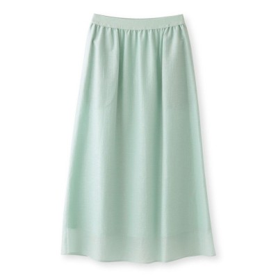 【エス エッセンシャルズ】 カールマイヤーロングスカート レディース グリーン 38(M) S.ESSENTIALS