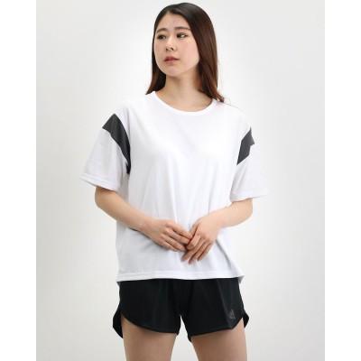 アディダス adidas レディース 半袖機能Tシャツ W MH カラーブロック ルーズTシャツ FM5172