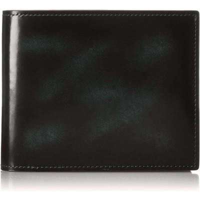 [エバウィン] 【日本製】財布 純札 本革 二つ折り EW21565 グリーン