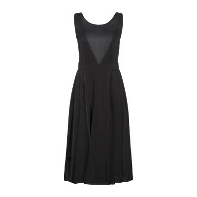 MARC ELLIS 7分丈ワンピース・ドレス ブラック S ポリエステル 100% 7分丈ワンピース・ドレス