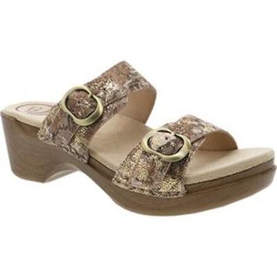 ダンスコ Dansko レディース サンダル・ミュール シューズ・靴 Sophie Sandal Taupe Metallic Leather