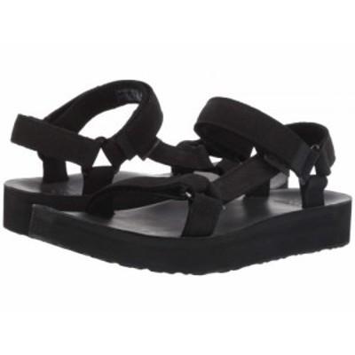 Teva テバ レディース 女性用 シューズ 靴 サンダル Midform Universal Leather Black【送料無料】