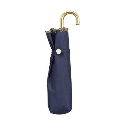ワールドパーティー(Wpc.) 日傘 折りたたみ傘 ネイビー 50cm レディース 傘袋付き 遮光フローラルスカラップミニ 801-9724 NV