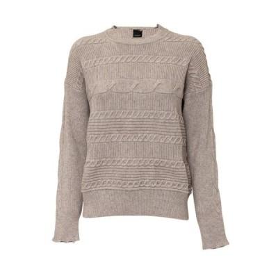 ピンコ レディース ニット&セーター アウター Pinko Gin Sling 1 Horizontal Cable Knit Sweater -