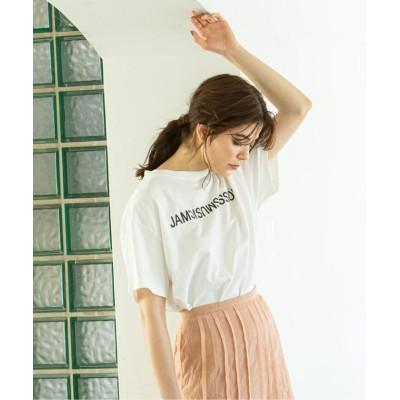 (NOBLE/スピック&スパンノーブル)《追加》【N.Jam】 レタードTシャツ◆/レディース ホワイト