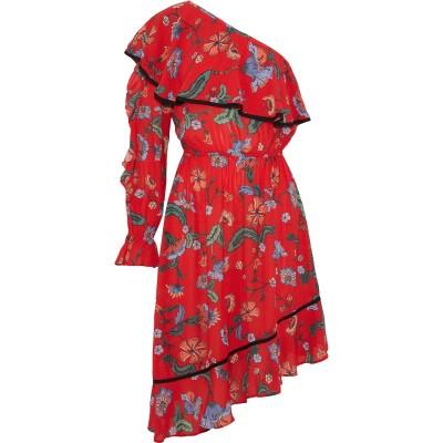 LOVE SAM ミニワンピース&ドレス レッド XS レーヨン 100% ミニワンピース&ドレス