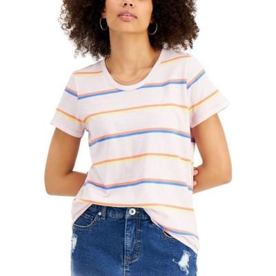 スタイル&コー Style & Co レディース Tシャツ トップス Petite Printed Scoop-Neck T-Shirt Orchid Stripe