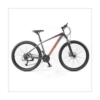 Hugs Mountain Bike 27 Speed Off-Road Bike 27.5 Inch Adult Men and Women Big Bicycle Double Disc Brake Mountain Bike Mountain Bike,Gray並行輸入品
