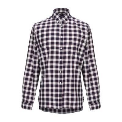 XACUS シャツ ダークブルー L コットン 100% シャツ